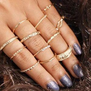 12 Piece Vintage Midi Rings